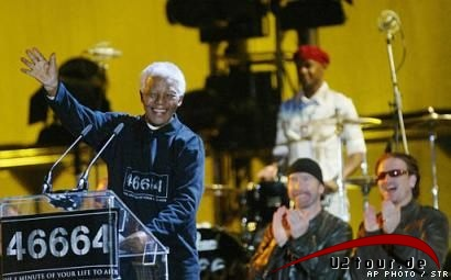 Nelson Mandela & The Edge & Bono