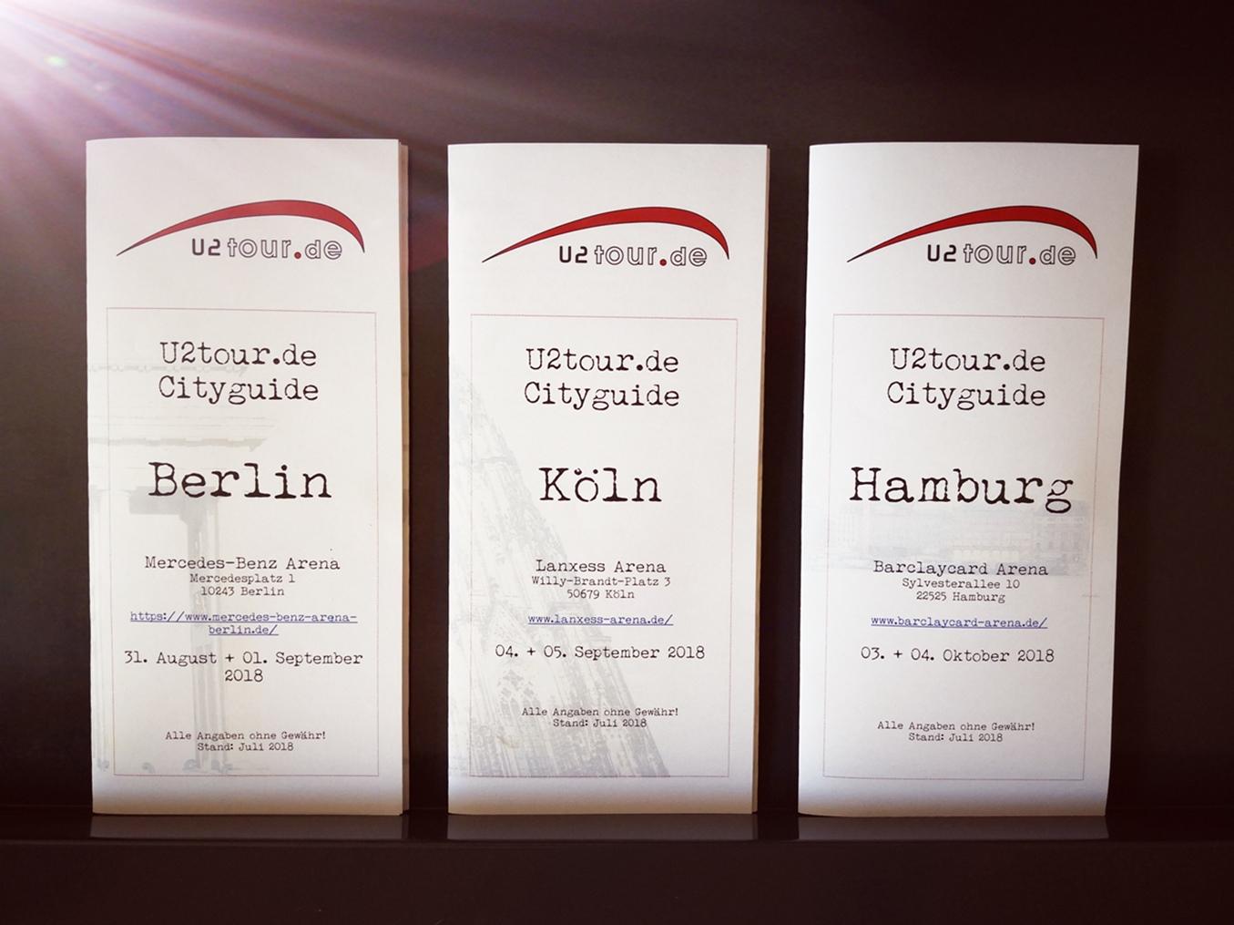 U2 News Die U2tour City Guides Für Berlin Köln Und Hamburg Sind Da